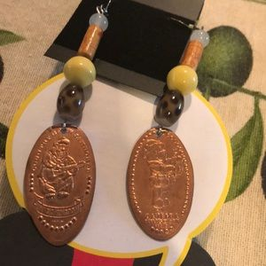 Disney Jewelry - DISNEY Bears Smashed Penny Earrings Handmade